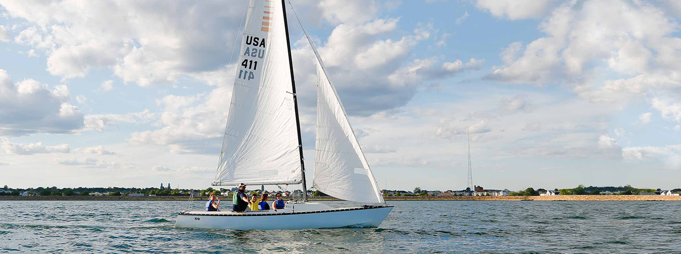 Sailing in New Bedford Harbor