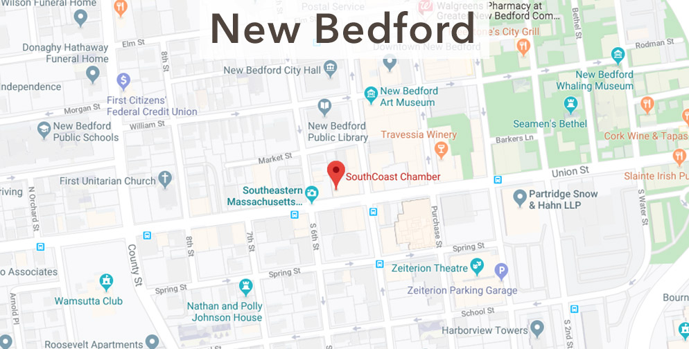 New Bedford chamber location map