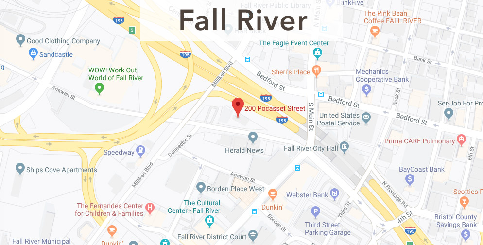 Fall River Chamber Location Map